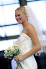 Wedding fashions showing wedding gowns and dresses as well as mother of the bride and groom dresses and evening wear