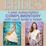 complimentary brides magazine subscription for brides with bridal show ticket purchase and attendance